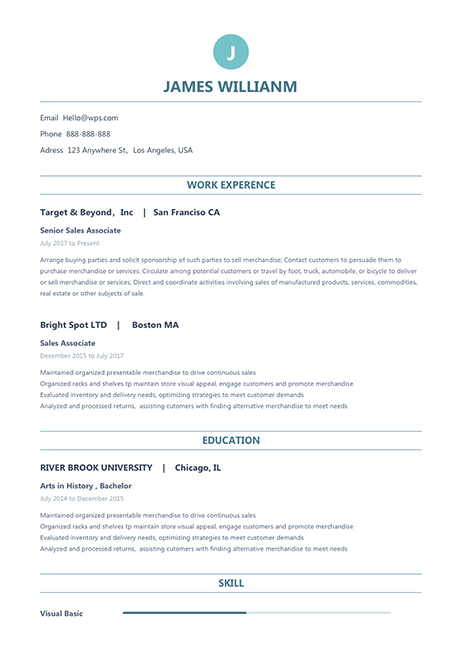 Resume Template Clear